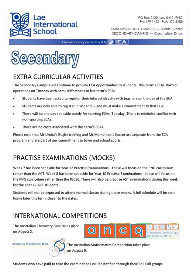 Secondary Newsletter 180725_1